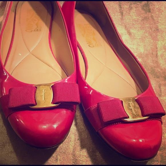 f092fcb6ad9 Ferragamo hot pink flats Size 9.5B